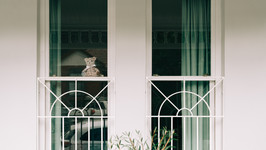 Teddy bear in the window of a neighborhood in COVID-19 lockdown. Photo: Nicolas Gonzalez/Unsplash