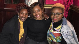 From left to right - Salzburg Global Fellows Palesa Ngwenya, Atianna Cordova, and Linda Kaoma