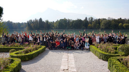 Participants and faculty of the fifth program of the Salzburg Global Forum for Young Cultural Innovators