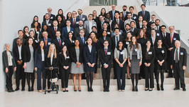 Participants and faculty of the seventh annual Salzburg Cutler Law Fellows Program